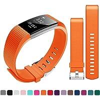 Bepack Fitbit Charge 2 Bracelet Sport, Remplacement en Silicone, Accessoire Sport réglable Sangles de Rechange pour Fitbit Charge 2 Femme Homme Large Small