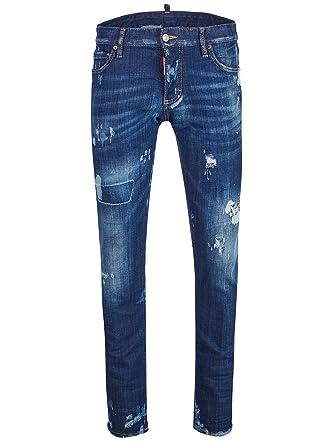 2b8ac48eaf7 DSquared - Vaquero - Pantalones - para Hombre Azul Azul 50  Amazon.es  Ropa  y accesorios