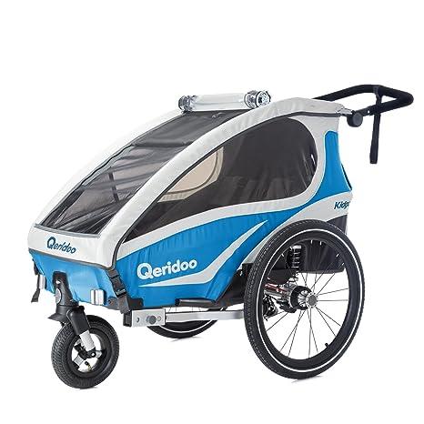 Remolque de bicicleta Kidgoo1 azul