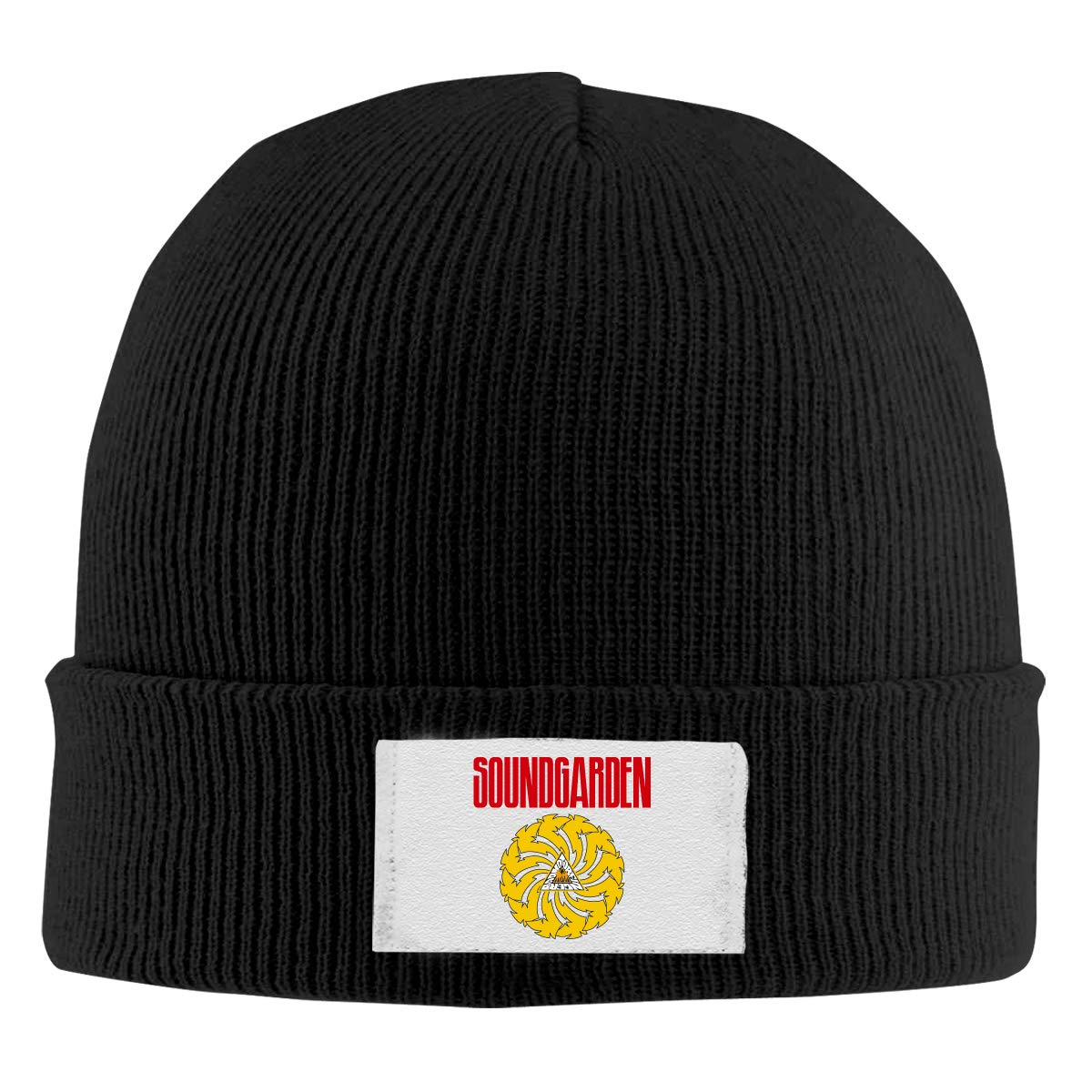 Unisex Stylish Slouch Beanie Hats Black Soundgarden Logo Top Level Beanie Men Women