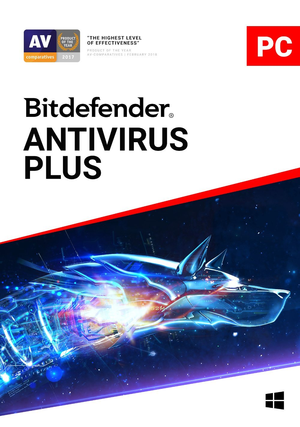 Bitdefender Antivirus Plus - 3 Devices | 2 year Subscription | PC Activation Code by email by Bitdefender