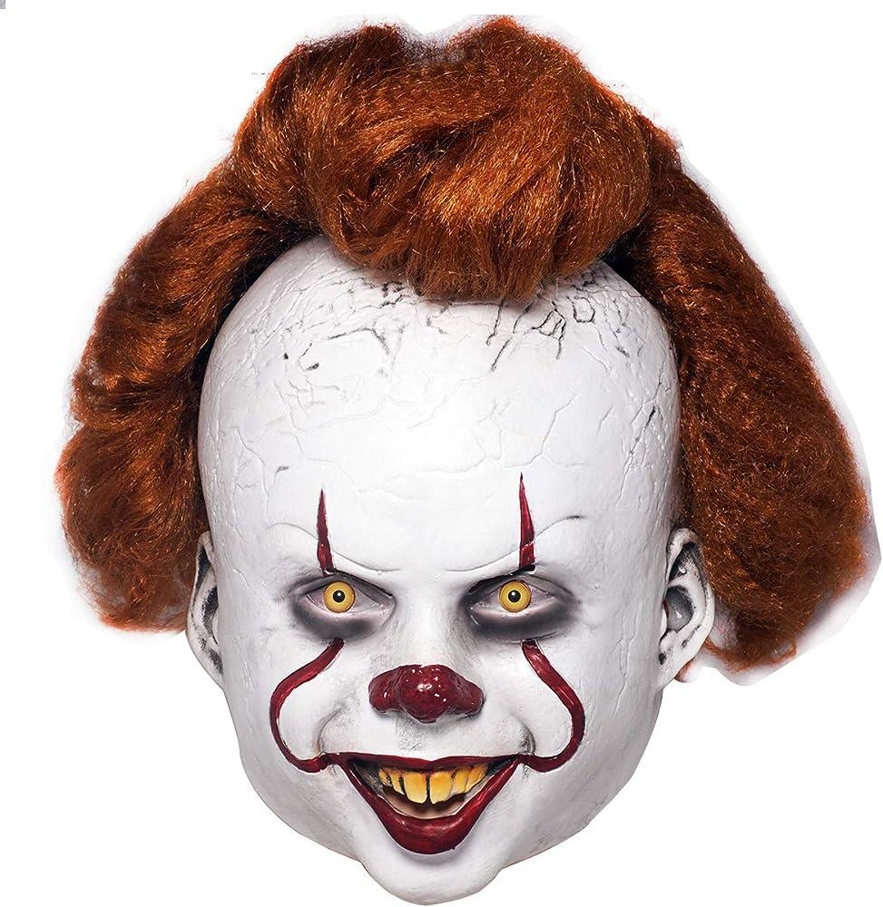 MISS C Máscara de látex de Payaso de IT, Disfraz de Halloween para ...