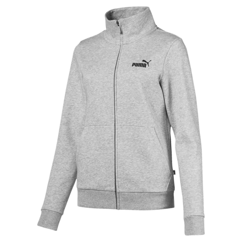 TALLA XS. Puma ESS Track FL Sweatshirt, Mujer, Light Gray Heather, XS
