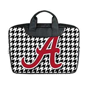 INSTALL AND EASY TO CARRY Wear& Slim &Dapper Alabama Crimson Tide Custom Waterproof Nylon Bag for Laptop 11 Inches(Twin sides)