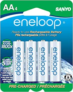 eneloop AA 2100 cycle, Ni-MH Pre-Charged Rechargeable Batteries, 4 Pack