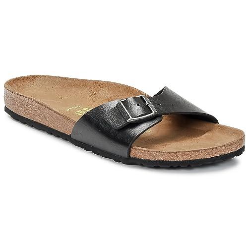 da85a240 Birkenstock BK239673 - Sandalias de Birko Flor Mujer, Color Negro, Talla 36  EU: Amazon.es: Zapatos y complementos
