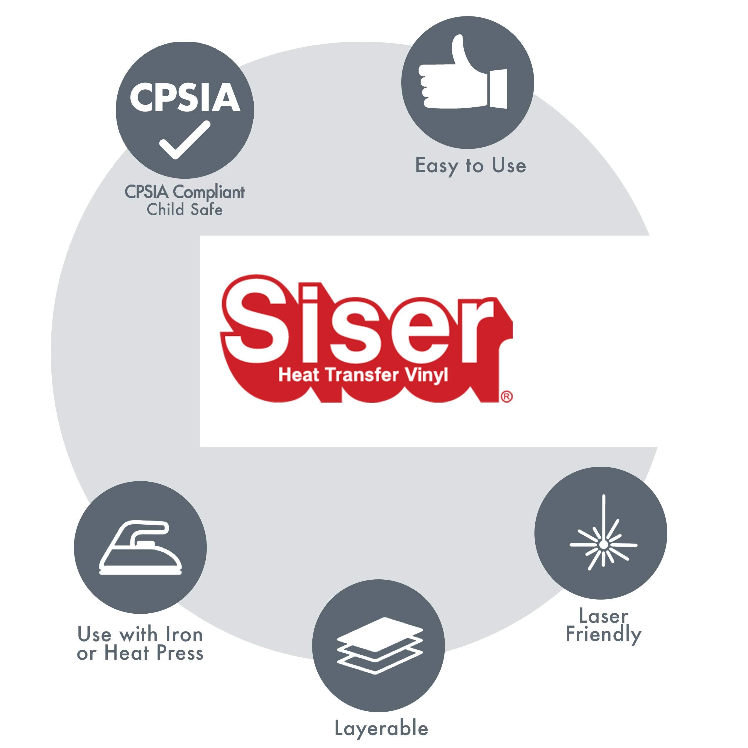 Siser EasyWeed HTV 11.8'' x 150ft - Iron on Heat Transfer Viny. (Black) by SISER (Image #6)
