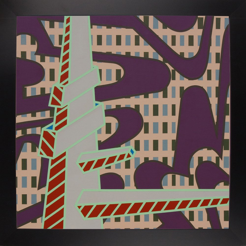 30x30 Frame USA Lines Project 70-ERICAR123162 30x30 by Eric Carbrey in a Affordable Black Large Print