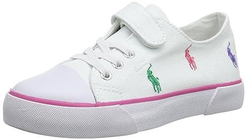 Polo Ralph Lauren Bal Harbour Cap Toe Repeat 991107 - Mocasines de lona para unisex-niño, Blanco (Weiß (White)), 21: Amazon.es: Zapatos y complementos