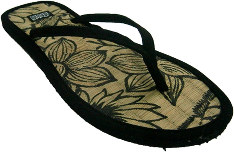 Chanclas Playa o Piscina para Meter Dedo con Planta de Paja Plana Gioseppo en Negro Talla 41: Amazon.es: Zapatos y complementos