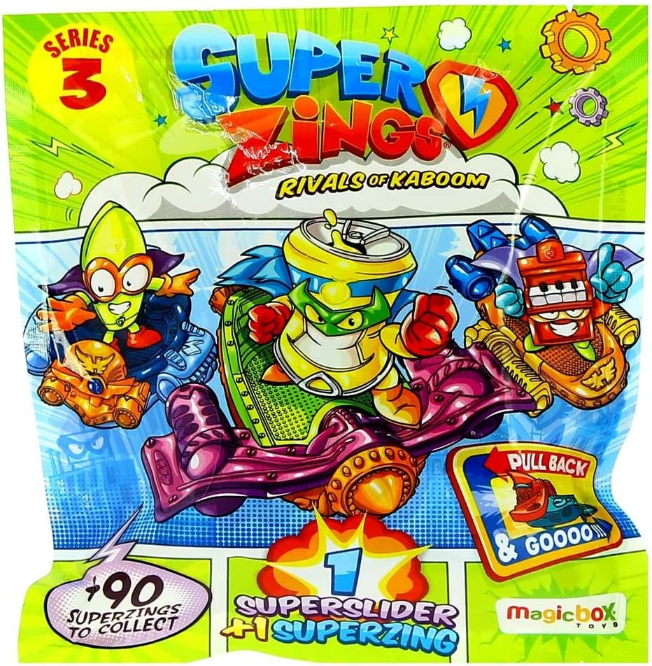 SuperZings MBXPSZ3D824IN00 Serie 3: Rivales de Kaboom Supersliders, Multi , color/modelo surtido: Amazon.es: Juguetes y juegos