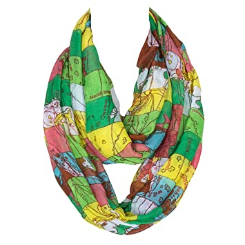 Butterme womens fashion world map print soft voile amazon butterme womens fashion world map print soft voile scarf long chiffon loop infinity scarves wraps shawl gumiabroncs Images