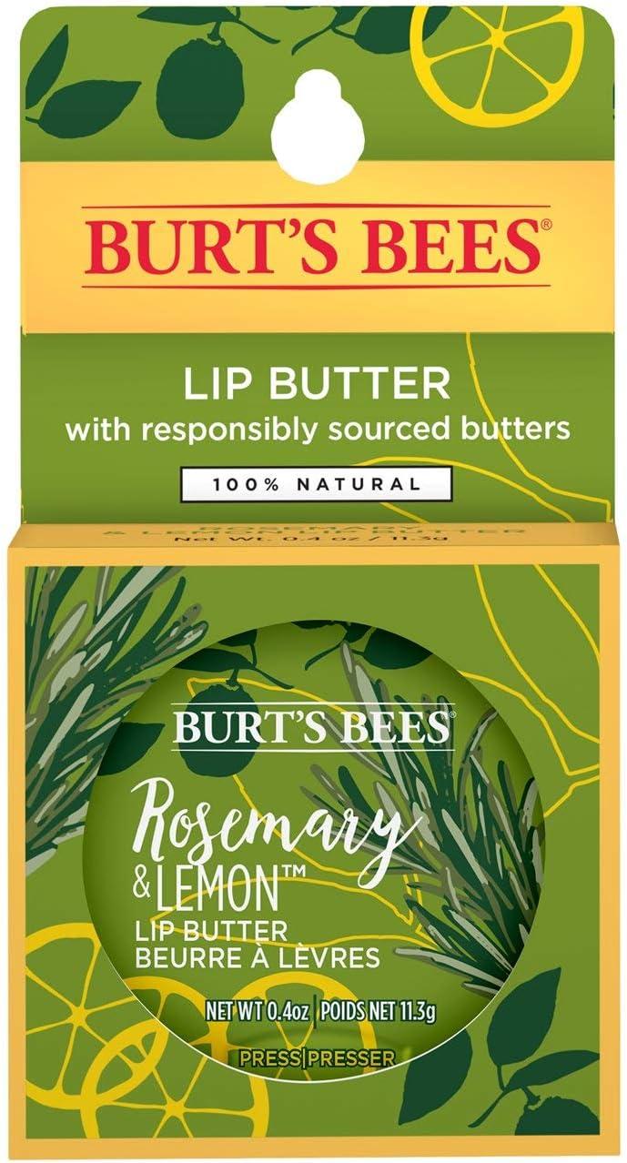Burt's Bees Burts Bees 100% Natural Moisturizing Lip Butter With Rosemary & Lemon 1 Tin, 0.06 Oz