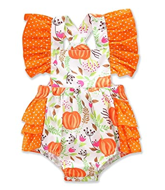 861d85e32 Newborn Baby Girl Floral Pumpkin Romper Tutu Bodysuit Jumpsuit Outfit  Summer Clothes: Amazon.co.uk: Clothing