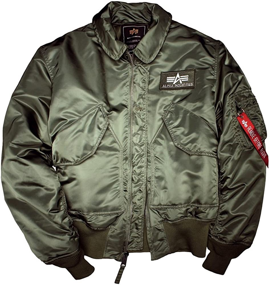 Alpha Industries – CWU 45 Chaqueta de aviador - Sage-Green S ...