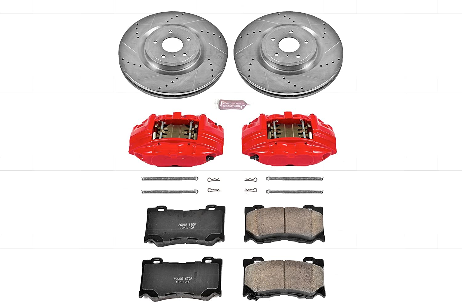 Power Stop KC2915A Z23 Evolution Sport Brake Kit with Calipers