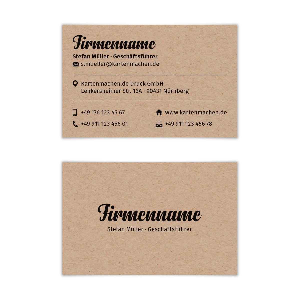 500 x Visitenkarten individuell Business Karten Karten Karten 300g qm 85 x 55 mm - Kraftpapier Look B07CHKDR8Q | Ausgezeichnet  | Ideales Geschenk für alle Gelegenheiten  | Düsseldorf Eröffnung  42e10c