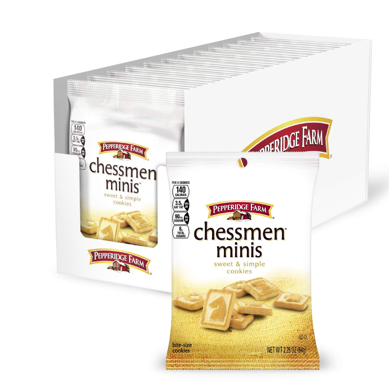 Pepperidge Farm Chessmen Mini Cookies, 2.25 Ounce Snack Packs (Pack of 8)
