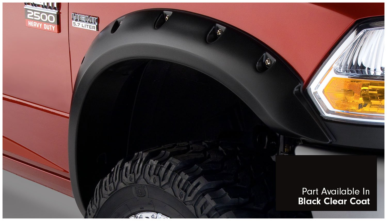 Amazon Com Bushwacker 50919 35 Black Clear Coat Pocket Style Fender Flare For Ram Set Of 4 Automotive
