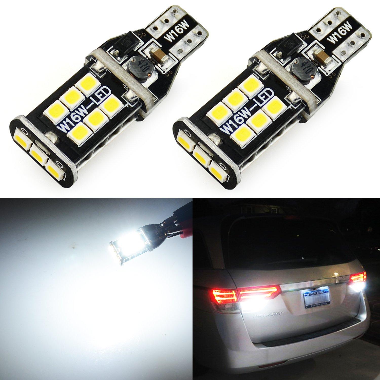 JDM ASTAR Extremely Bright 2000 Lumens Error Free 921 912 3035 Chips LED Bulbs For Backup Reverse Lights, Xenon White