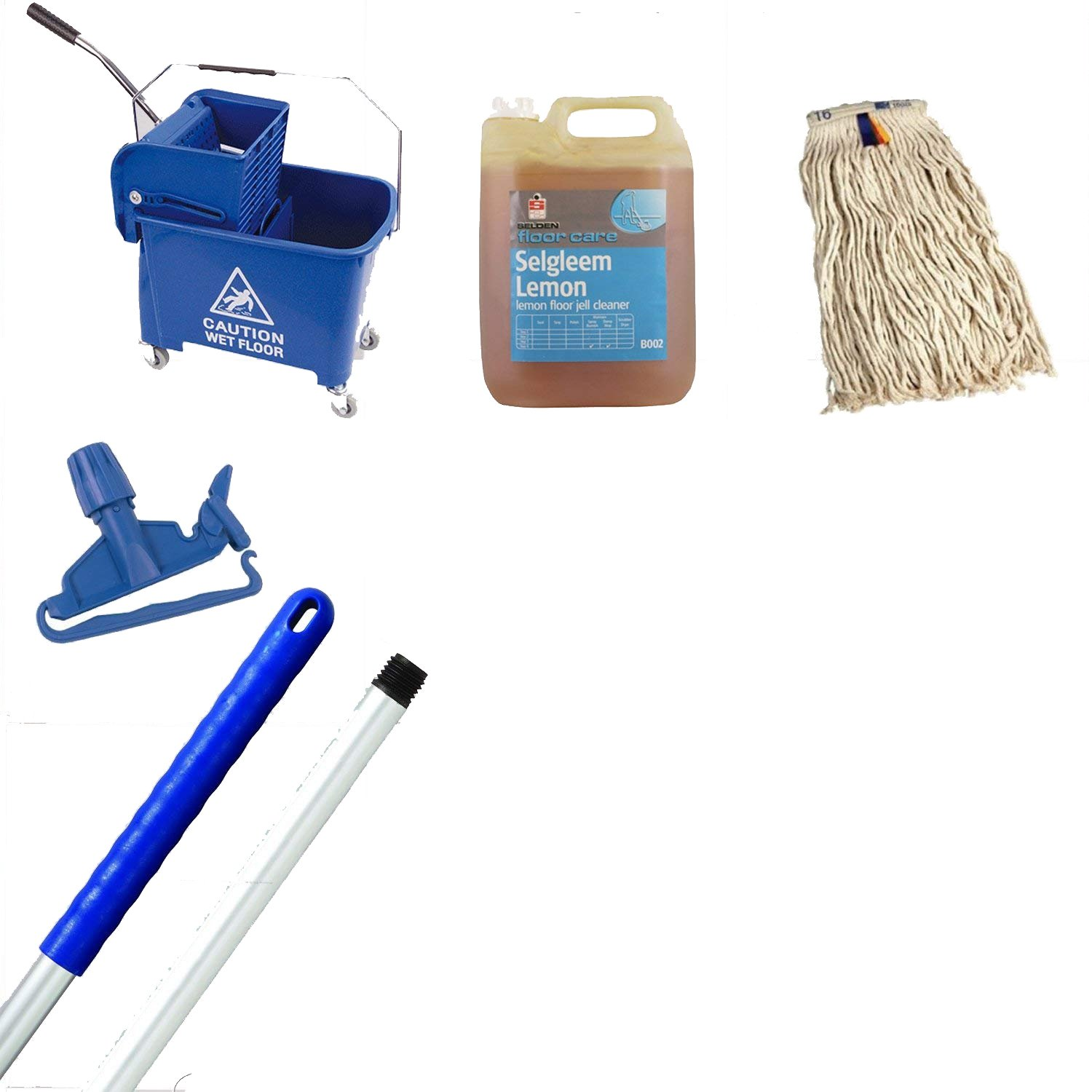 Kentucky Mop Bucket And Wringer Kit Blue