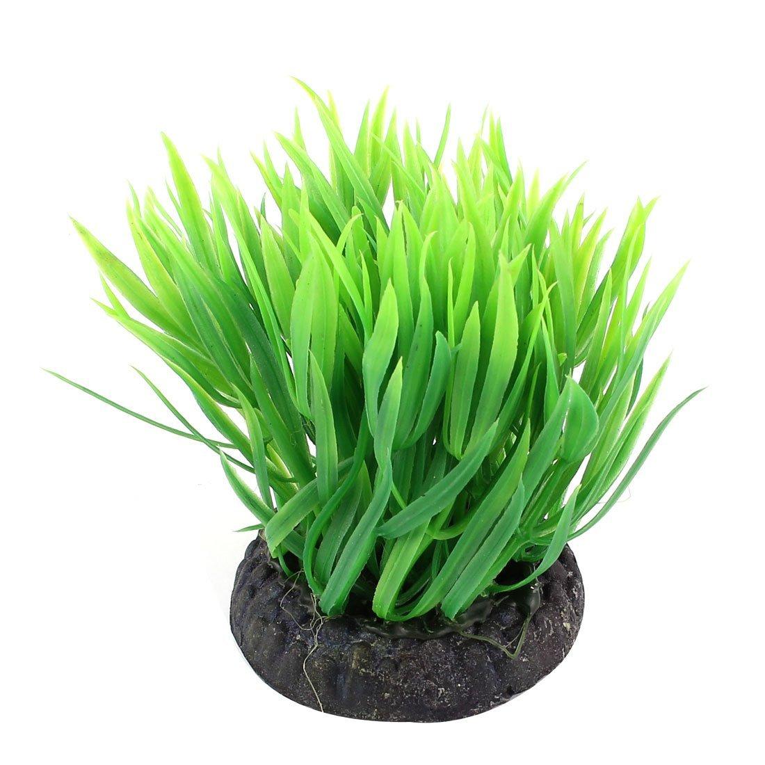 11cm Green Plastic Aquarium Plant Water Grass Ornament for Fish Tank