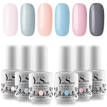 Amazon.com : YaoShun Gel Nail Polish - Soak Off Nail Gel Purple Nude ...