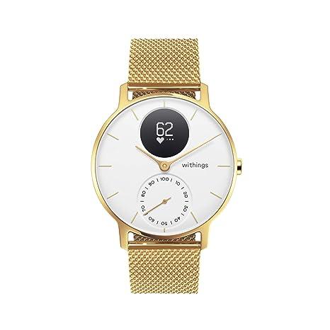 Withings Steel HR Hybrid Smartwatch - Reloj de fitness con frecuencia cardíaca y medición de actividad, 36 mm - Edición limitada, pulsera dorada