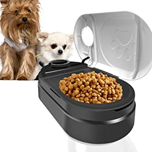 Automatic Cat Feeder,Pet Food Dispenser with Digital Clock and Portion Control, Cat and Small to Medium Dog Food Dispenser Station, 48-Hour