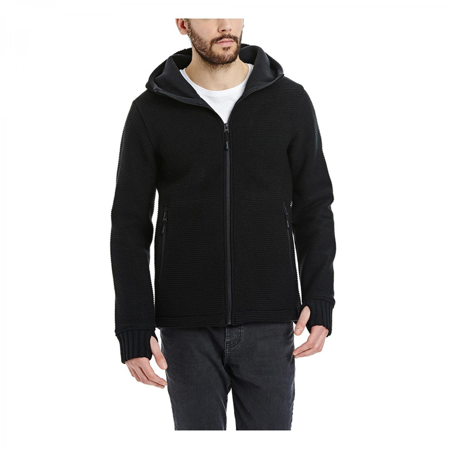 Bench Herren Strickjacke Pat BMFA1495 Jet Black XL