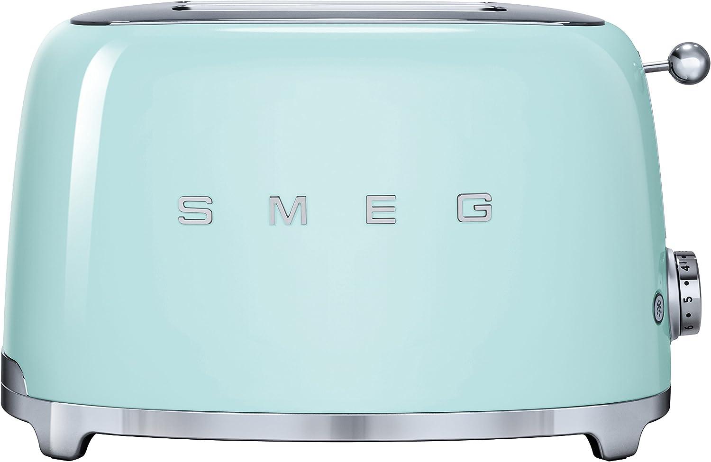 Smeg TSF01PGEU - Tostador (2 rebanada(s), Acero inoxidable, 950 W, 220 - 240, 50/60, 310 mm), Verde (Pastel green)