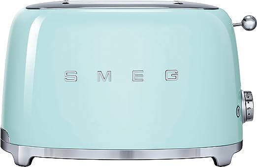Smeg TSF01PGEU - Tostador (2 rebanada(s), Acero inoxidable, 950 W ...