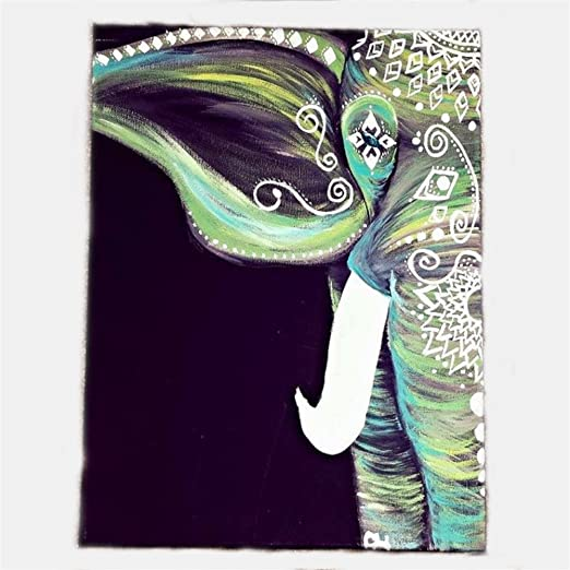Elephant Tree Of Life Psychedelic Tapestry Indian Wall Hanging Throw Bedspread