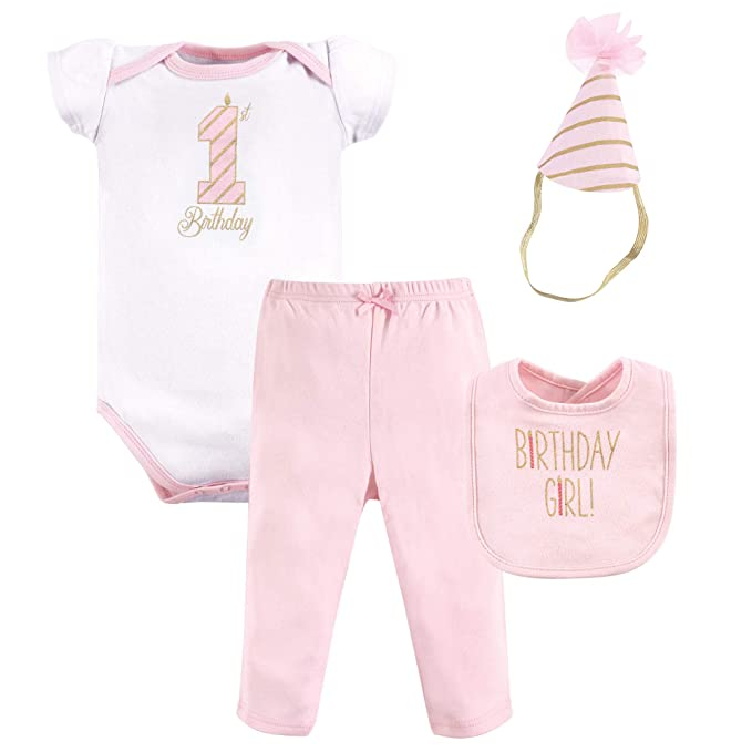 Hudson Baby First Birthday Outfit 4 Piece Girl 12 Months
