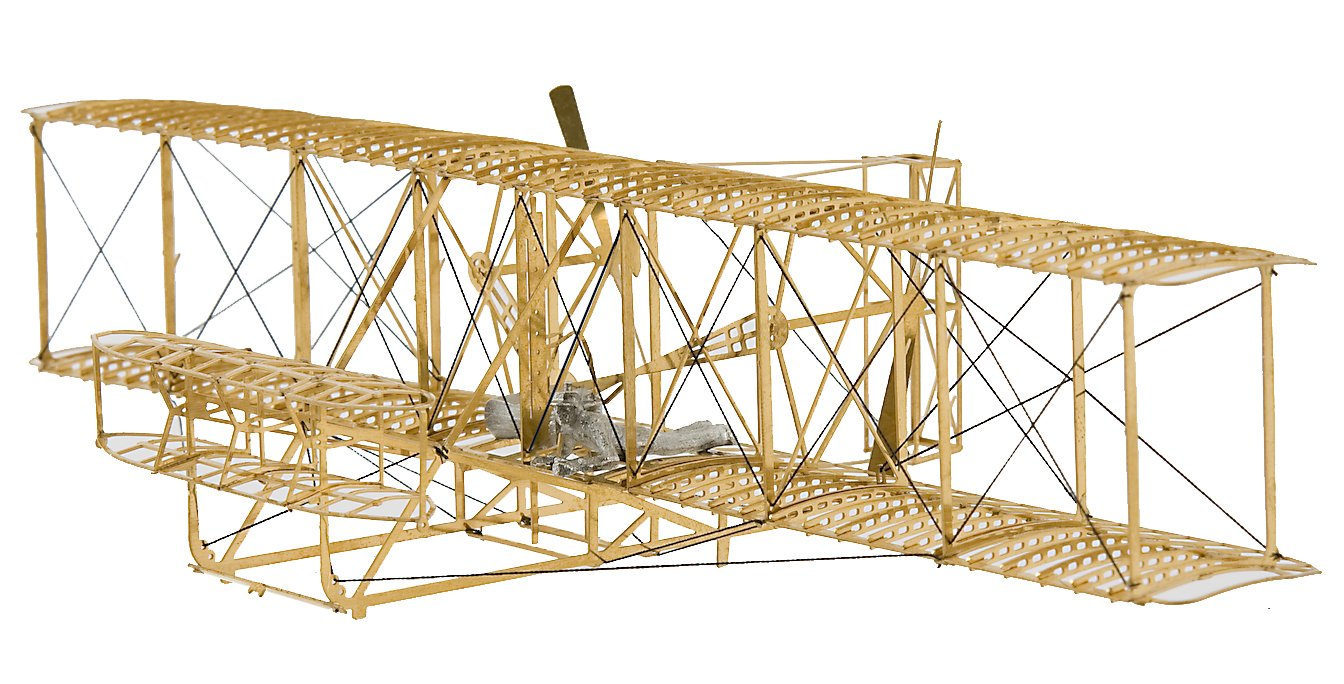The Wright Flyer 1903 - Brass Model Airplane Kit (1:72) Scale