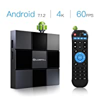 TV Box Android 7.1, Globmall X3 2018 Smart TV Box 2G RAM Supporting HD 4K/2.4GWiFi/H.265 for Social Network, On-line Movies etc(60FPS)