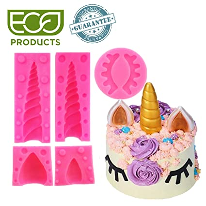 WIXDROD Silicone Unicorn Mold Cake Toppers Birthday