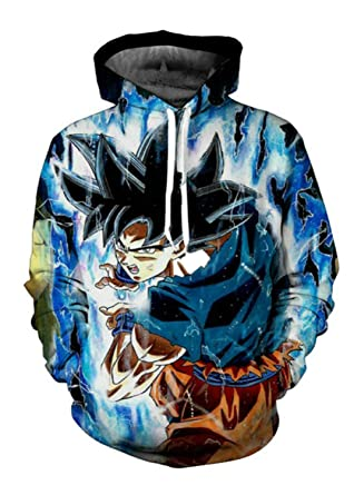 Sweatshirt Dragon Ball Hoodies Sudaderas Anime Goku 3D Print Jacket (XXS, DB001)
