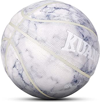 Kuangmi Double Color Basketball Training Games PU Leather Indoor//Outdoor Size 7