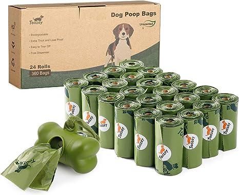 Toozey 360 Bolsas Caca Perro, Bolsas Biodegradables Perro con ...