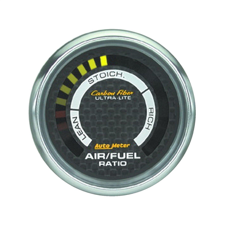 Auto Meter 4775 Carbon Fiber 2-1/16' Narrowband Digital Lean - Rich Air/Fuel Ratio Gauge