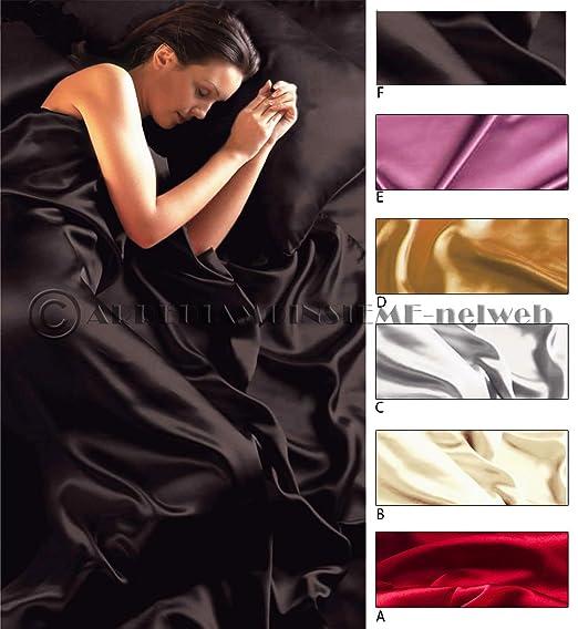 24 opinioni per Completo MATRIMONIALE RASO set lenzuola sopra sotto con angoli 2 fodere cuscini