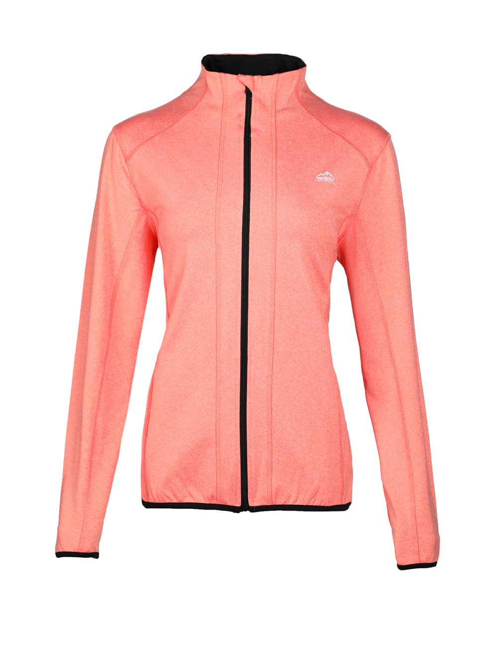 Dolcevida Women's Full Zip Long Sleeves Running Activewear Yoga Track Jackets (Coral, L) by Dolcevida