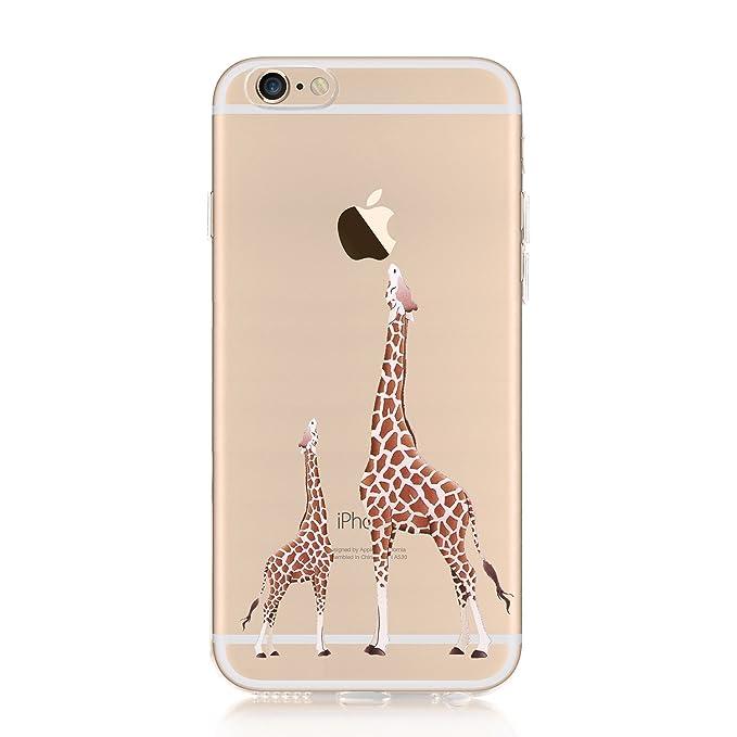 5 opinioni per Crazylemon Cover per iPhone se 5S 5 Trasparente in TPU, Giraffe, iPhone 7