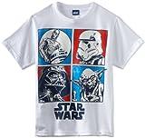 Star Wars Big Boys' Profile T-Shirt, White