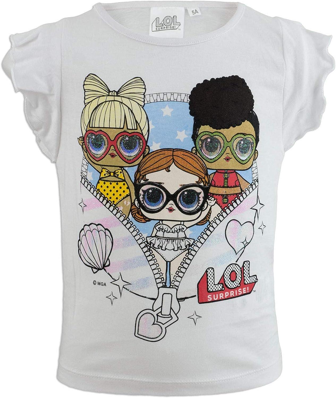 Surprise! Full Print L.O.L novit/à Prodotto Originale con Licenza Ufficiale SE629X T-Shirt Maglia Maglietta a Maniche Corte Bambina