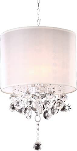 Modern Contemporary Crystal Silver Chandelier