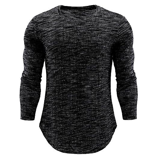 Amazon com: XUANOU Men's Slim Long Sleeve T-Shirt Top Tree
