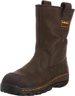 Dr Marten DM Docs Kestrel S3 Size 6 Brown Steel Toe Cap Safety Rigger Boots PPE
