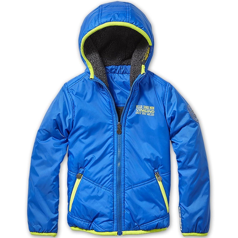 Vingino Winter Jungen Wende Jacke Tabo mit Teddyfell reflex blue JB1630009
